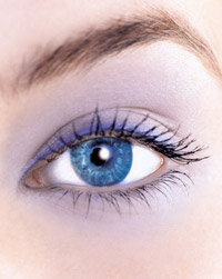 blue eye beauty closeup
