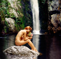nude south africa beauty water fall